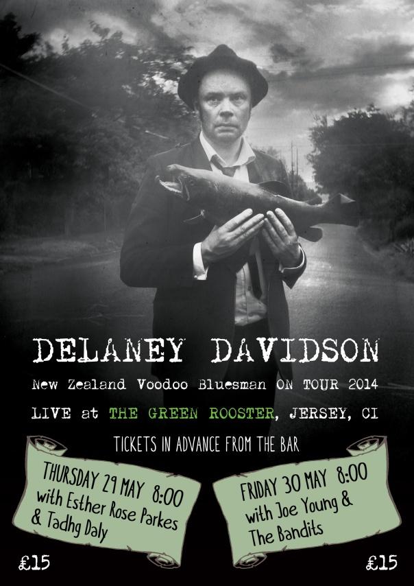 Delaney Davidson Green Rooster poster